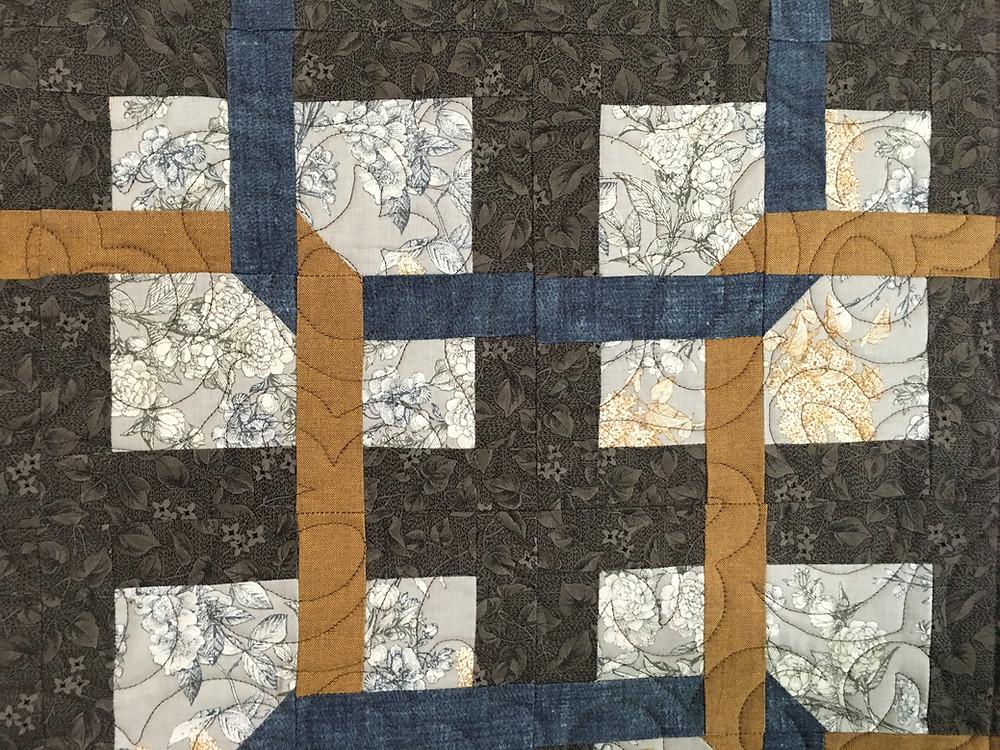 Closeup of Jill Seward Interlocking Rings Quilt