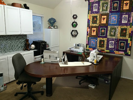 Sewing studio for Diane Selman at MyLongarm.com