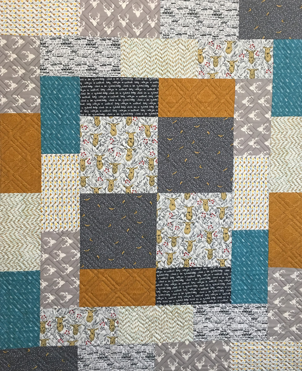Boy Hunter Quilt by Debbie Seitz