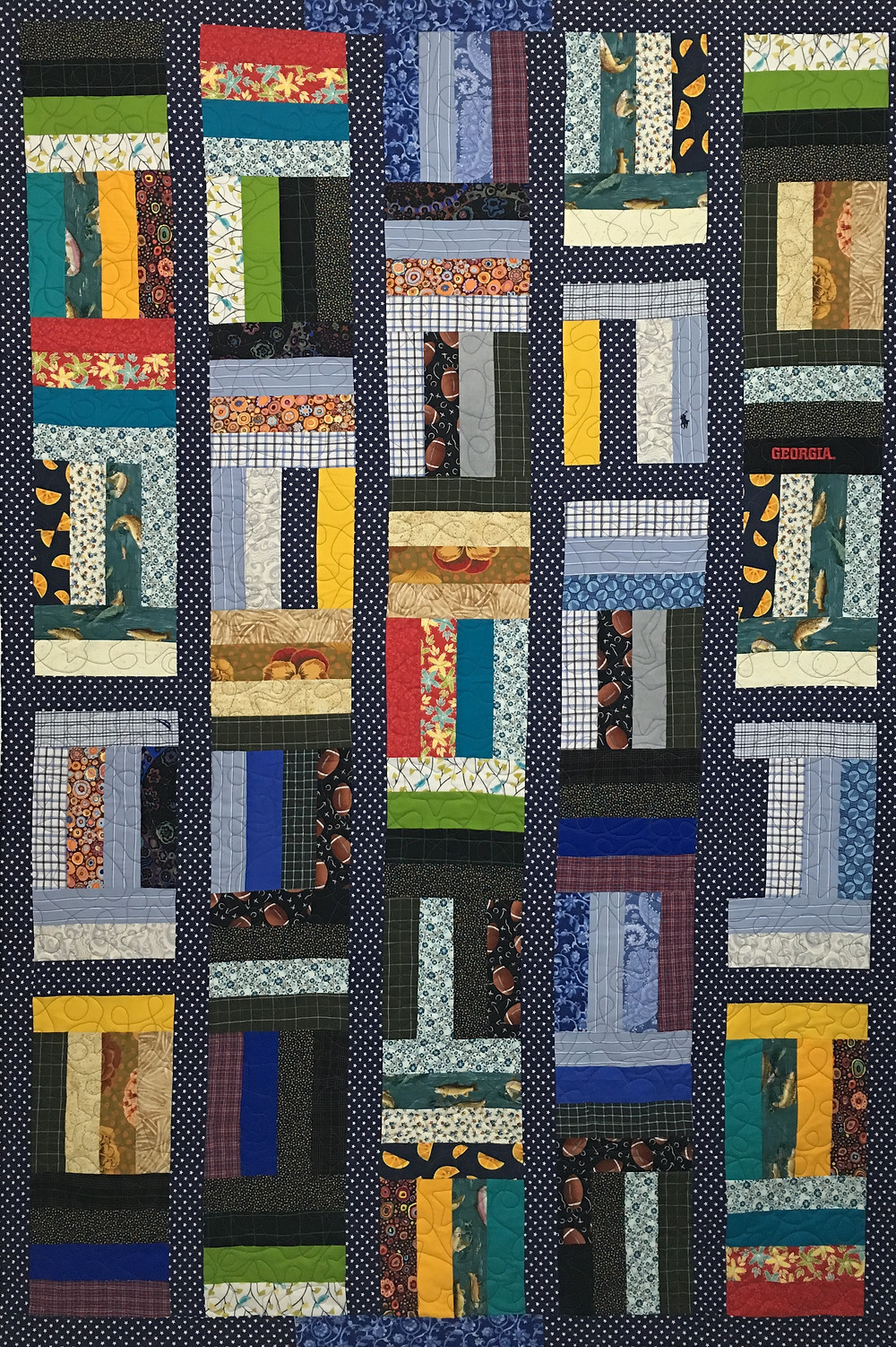 Jelly Bean Dreaming Memories quilt by Judi Castro