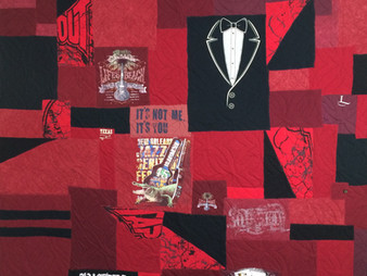 Jackie Kerr BAMA T Shirt Quilt for son