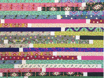 Marian Loep Colorful Jelly Roll Quilt