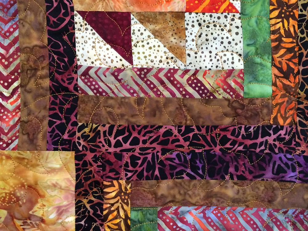 Closeup of Cynthia Parra Maple Sugar Quilt