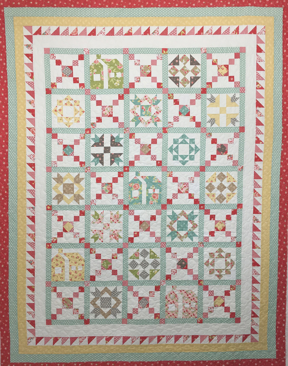 Country Houses quilt by Deb Taylor