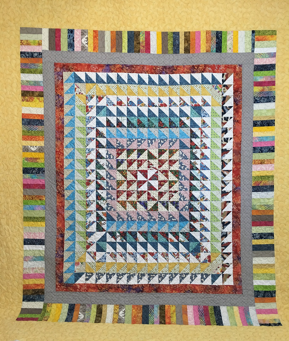 Tiny Triangles Quilt by Rose Dillon