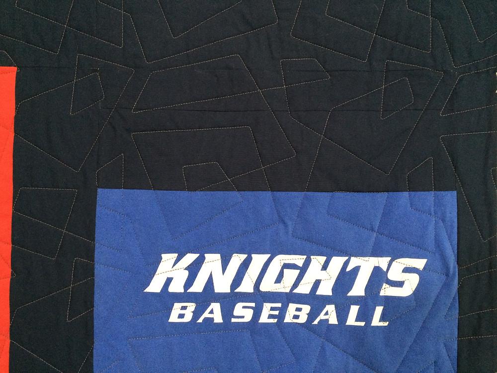 closeup of Karen Natale T Shirt quilt