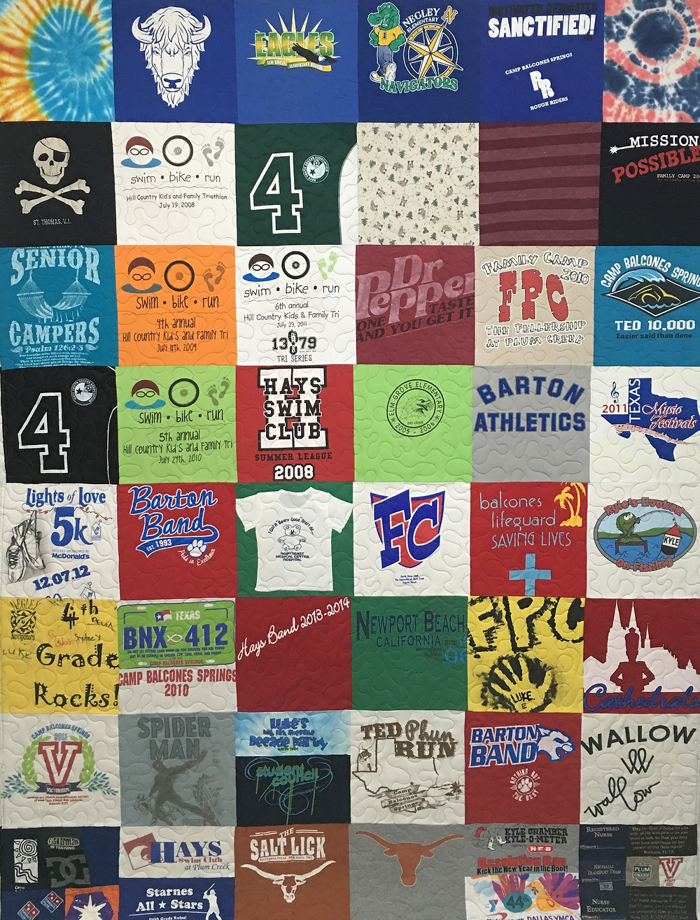 Wyana T-Shirt Quilt for her 18 Years of Memories