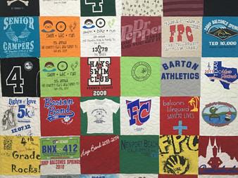 Wyana Eddleman 18 Years of Memories T Shirt Quilt