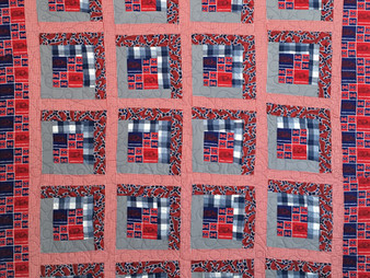 Jefferson Sutton Ole Miss Log Cabin Quilt