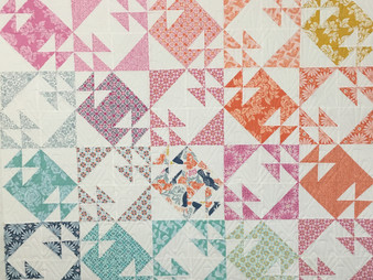 Jocelyn Ueng Half Square Triangle Double T Quilt