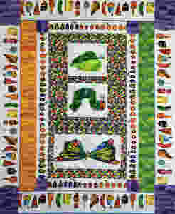 Toni Rocha butterfly and caterpillar quilt