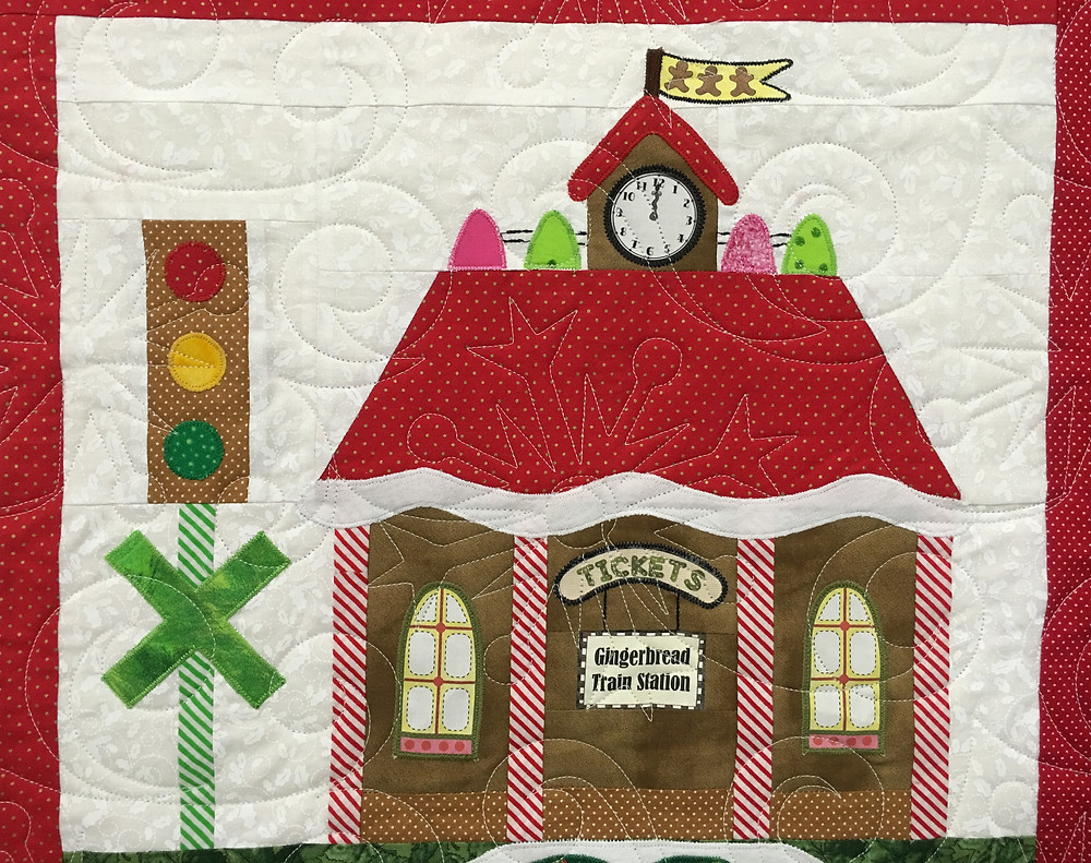 Another block on Gingerbread Village Quilt by Liz Zoch