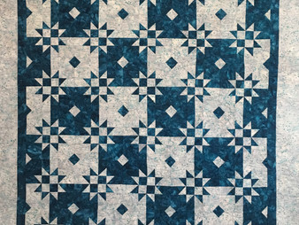 Linda Betncourt  Blue and White Stars Quilt
