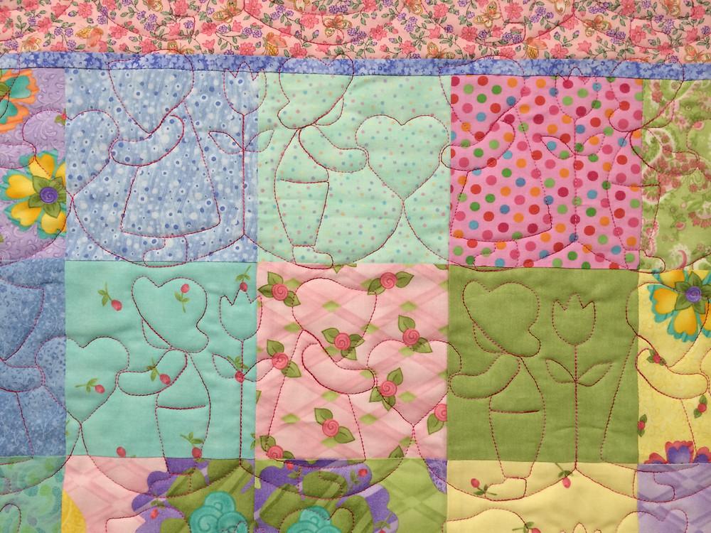 Children Quilting Pattern on Baby Quilt by Sally Krebs