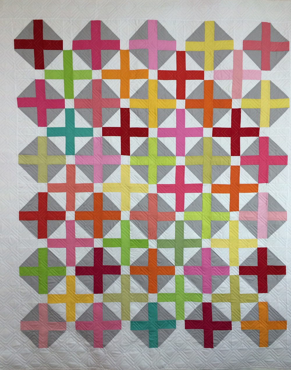 pluses in color quilt