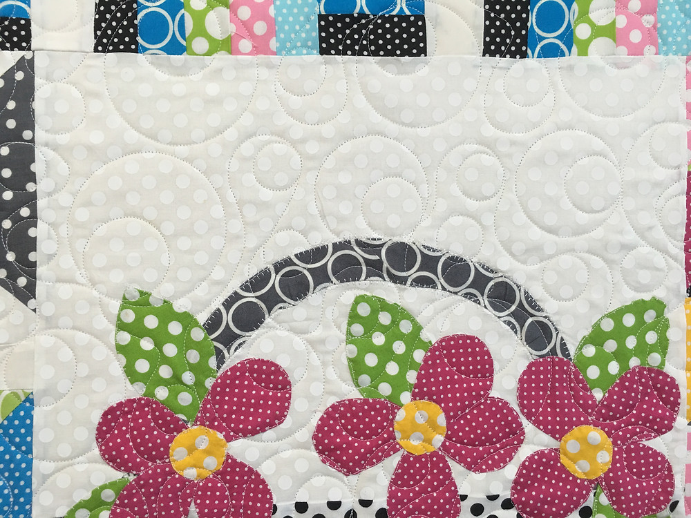 Another close up of Bella Craftsy Block of the Month Quilt