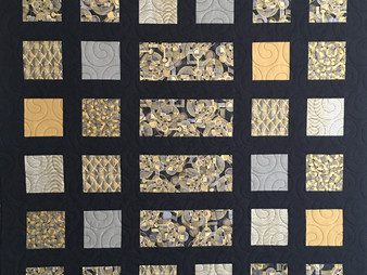 Sue Abram Silver and Gold Quilt