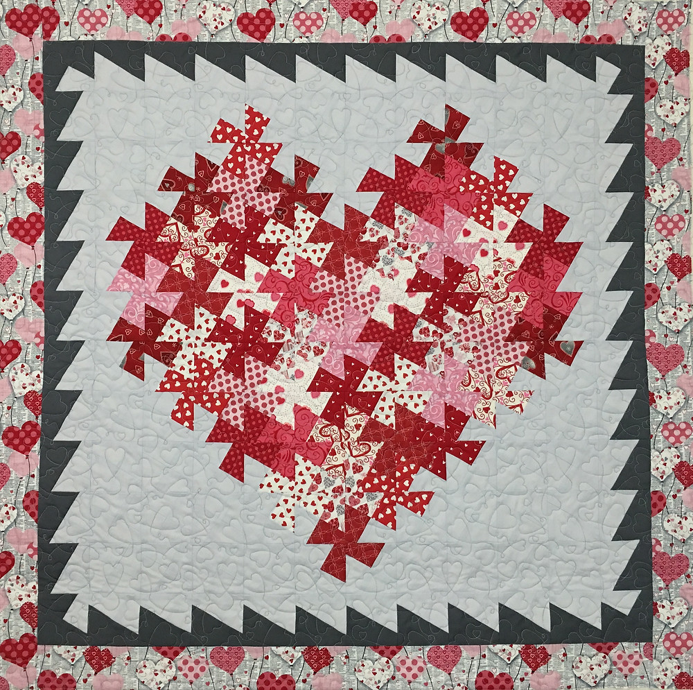 Valentines Heart Quilt by Delfina Guerra