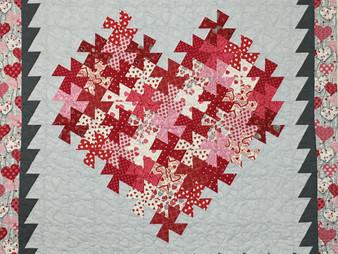 Delfina Guerra Valentines Heart Quilt