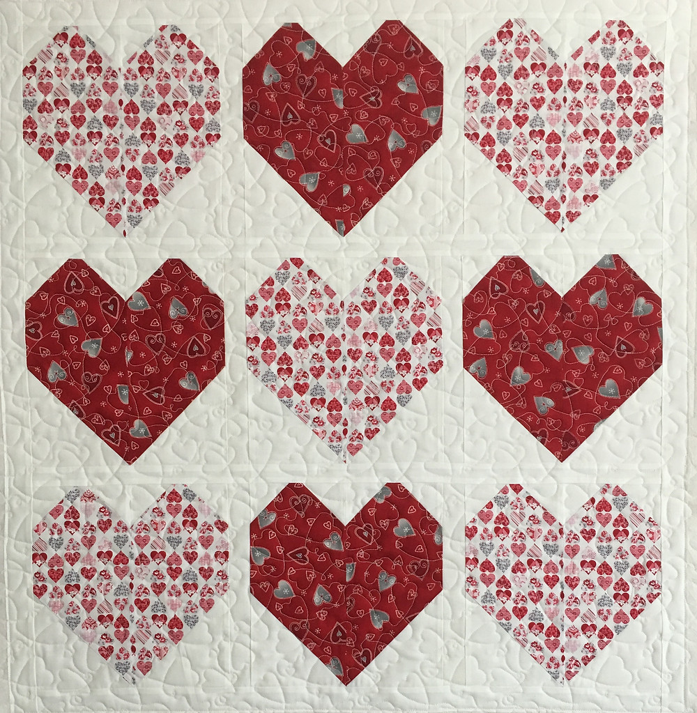 Valentine's Hearts Quilt by Delfina Guerra