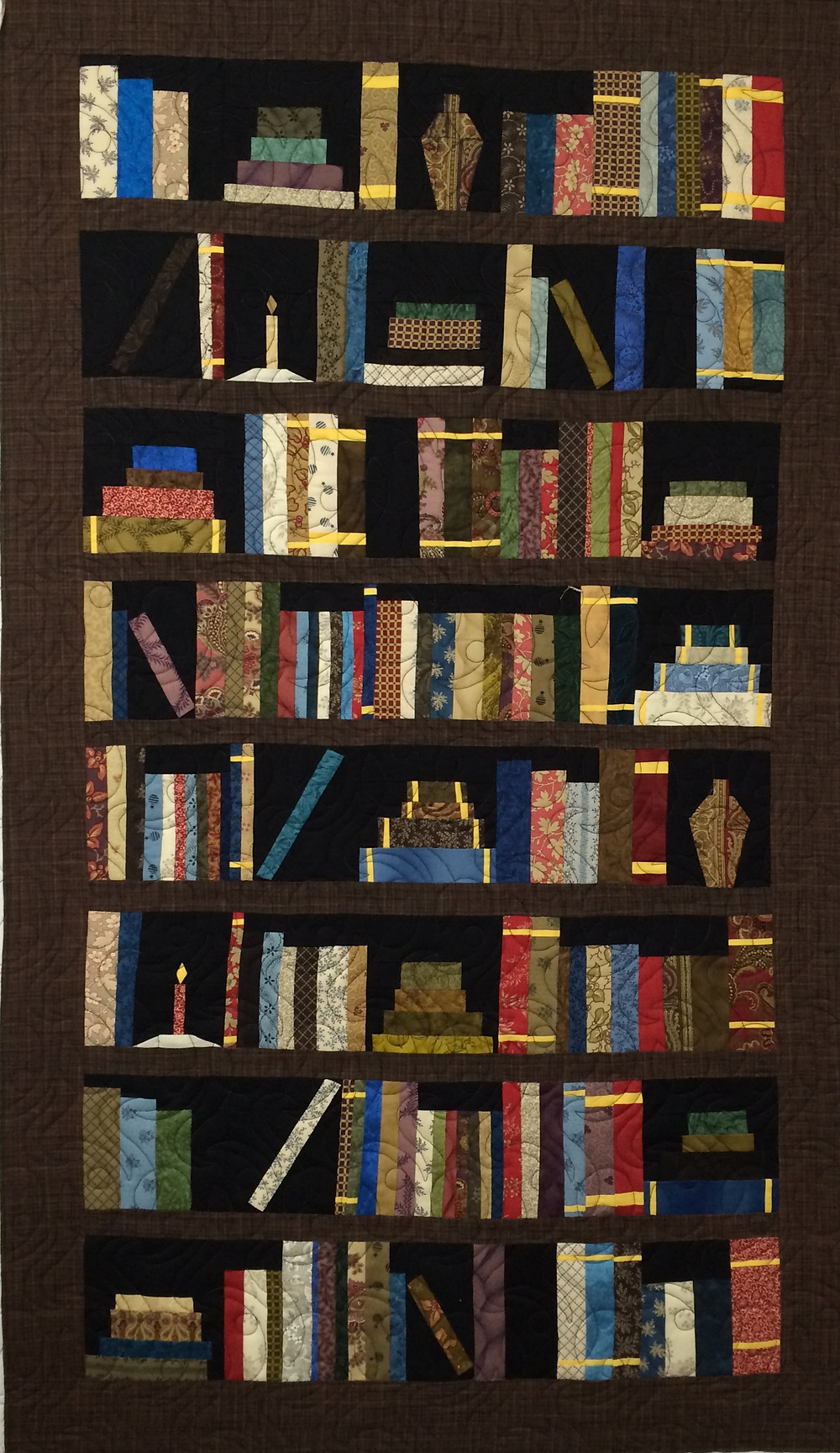 bookshelf quilt for any library or office