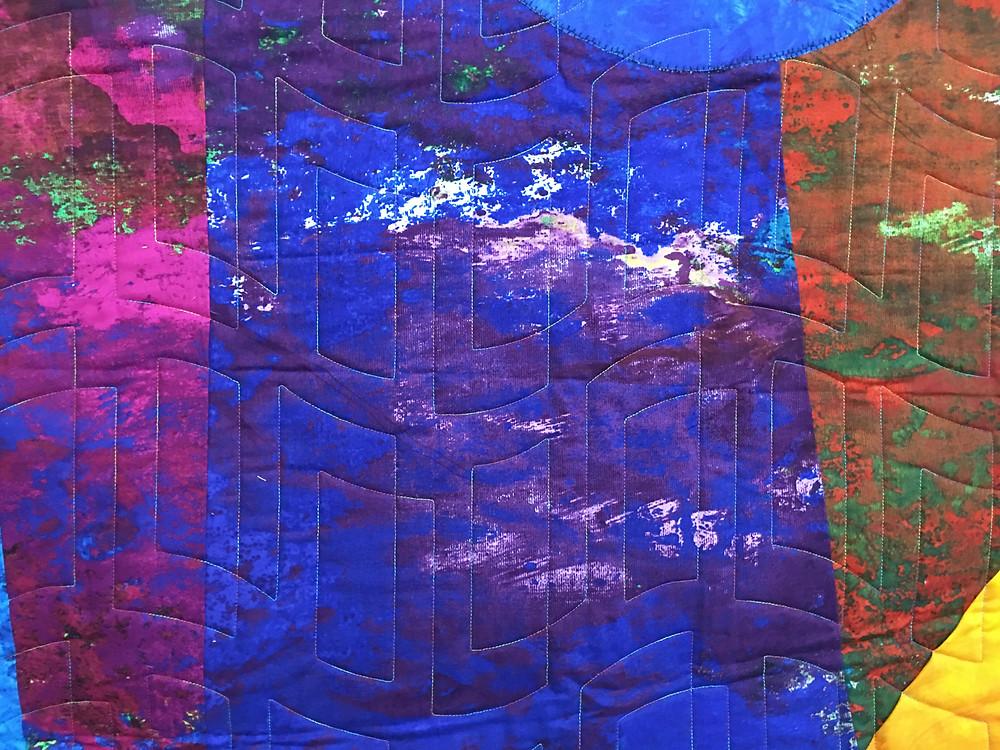 another closeup of Beth Aha Moment Colorwash Quilt
