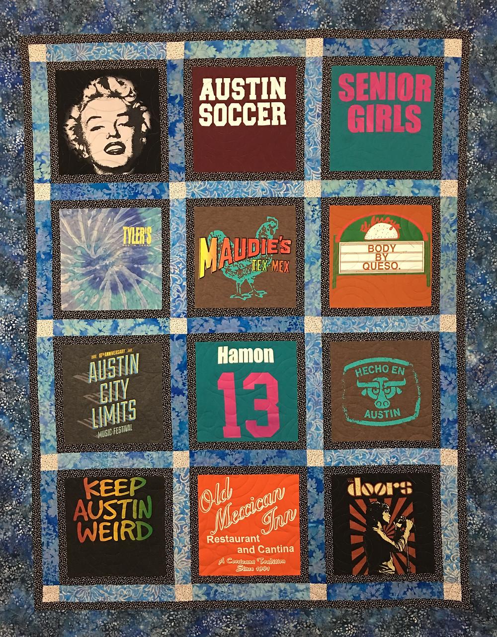 T Shirt Quilt by Debbie Seitz