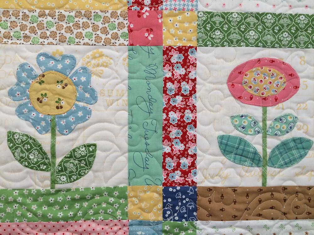 close up of Codi Mangrum Bloom in Applique Quilt