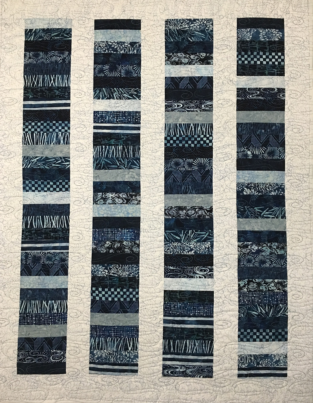 Chinese Coins Quilt by Debbie Seitz