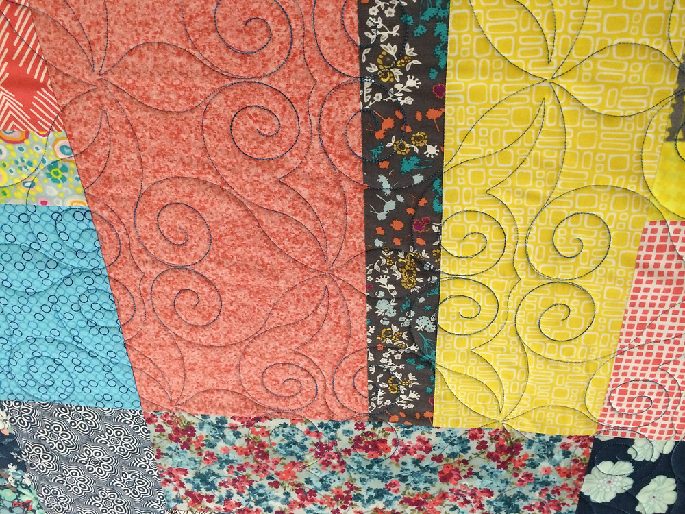 triple treat quilt with spiral quilting