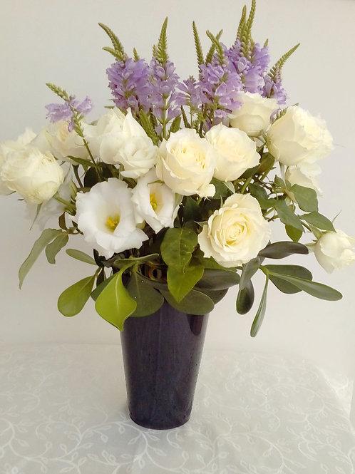 Mix de flores em vaso de acrilico - MOD.003