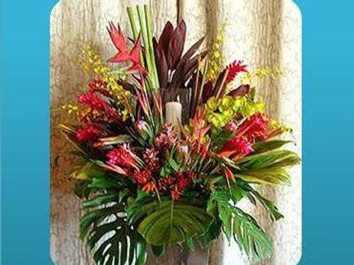 Mix de flores em vaso simples - MOD.052