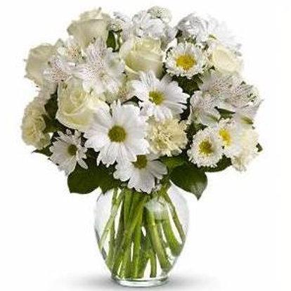 Mix de flores em vaso de acrilico - MOD.0027