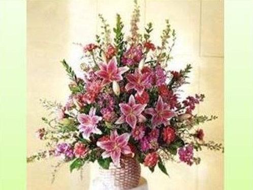 Mix de flores em vaso simples - MOD.024