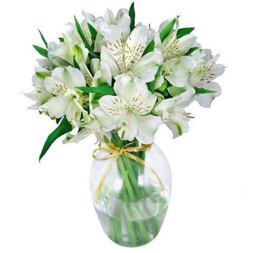 Mix de flores em vaso de acrilico - MOD.019