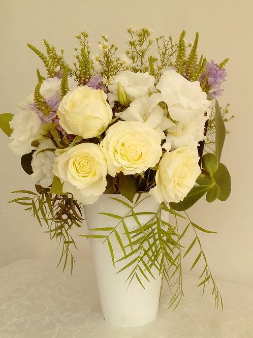Mix de flores em vaso de acrilico - MOD.009