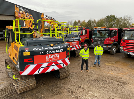 5 New Excavators and 2 New Sweepers