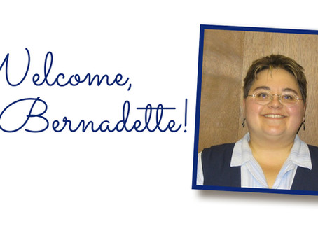 Welcome, Bernadette!