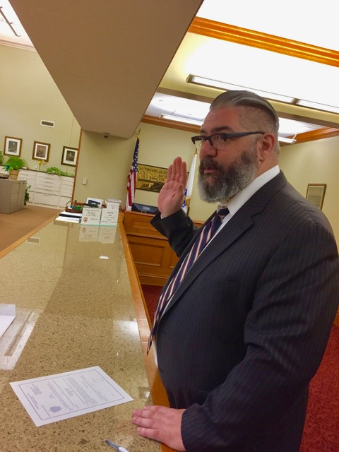 Joel being sworn in at the Massachusetts Supreme Judicial Court.