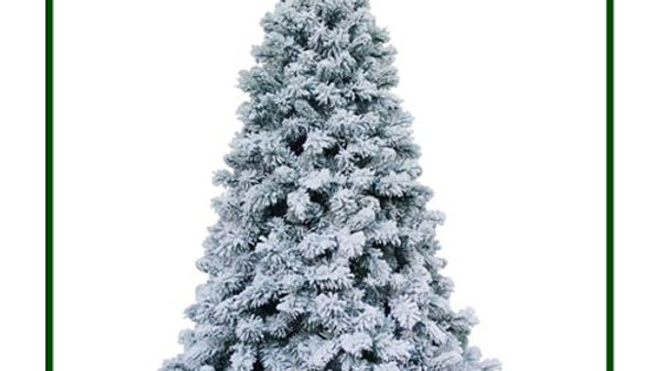 MQECA6070F - Flocked Christmas Tree