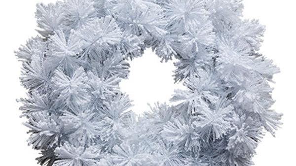 WPW2050F White Christmas Wreath w/Snow