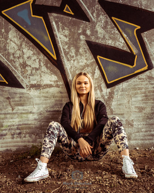 Graffiti Wall Model Photo-Shoot