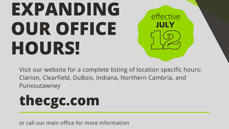 Expanded Hours Now Available!