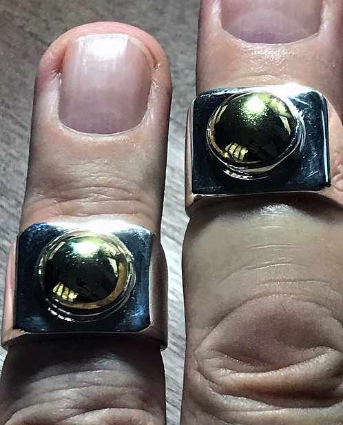 Mercury Eats Gold Silver Rings by Kruba See Ong Sizes 8.5 9.5 10.25 and 11