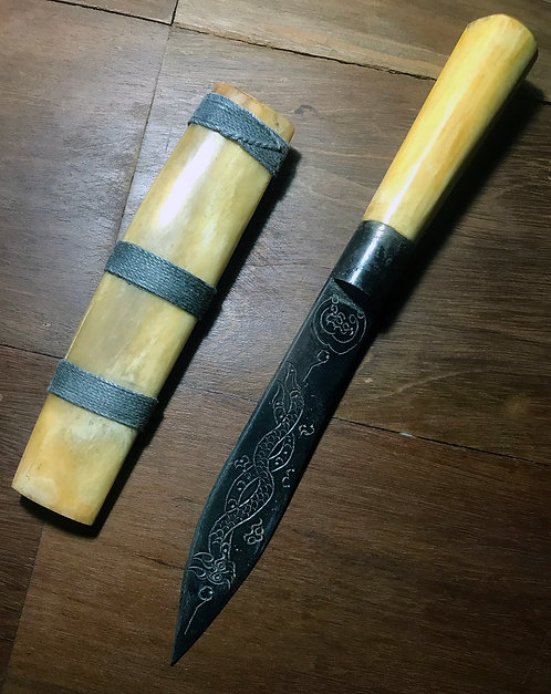 """A 9.5"""" Country Style Miit Mhor Knife by Luang Phor Phrom"""