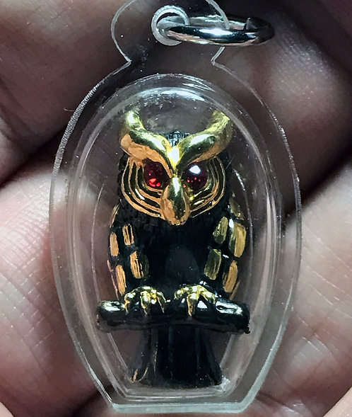 A Stunning Owl Amulet by Luang Phor Charun- anti black magic and money
