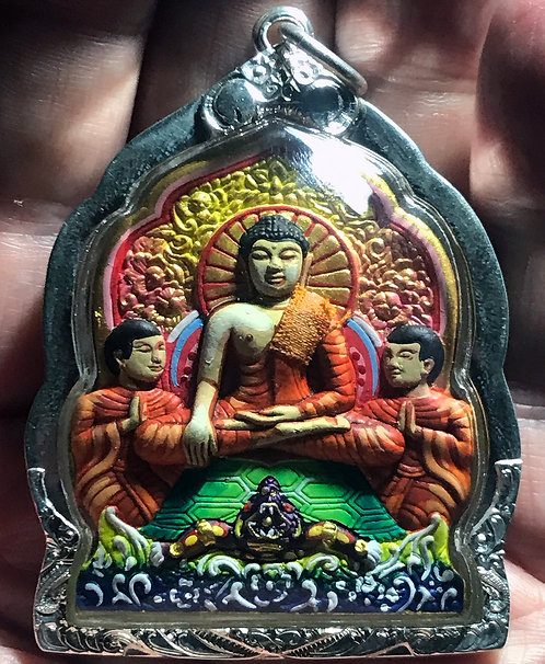 An Incredible Buddhist Amulet from Luang Pu Noi - in silver