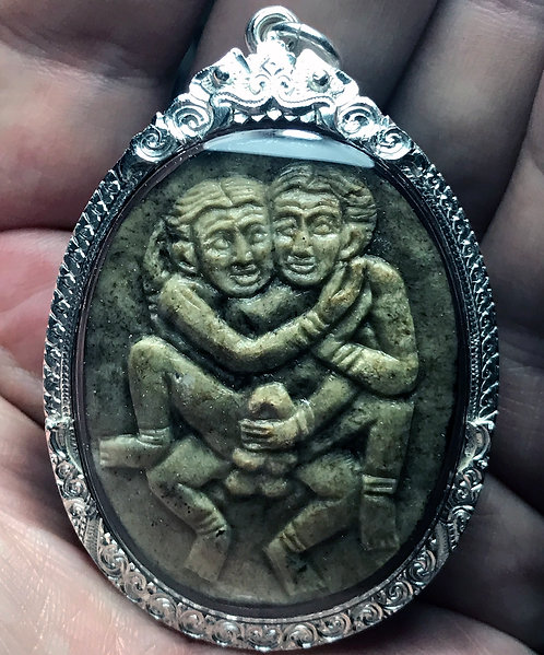 A Stunning Carved Panneng to Gay Love by Ajarn Tay in silver