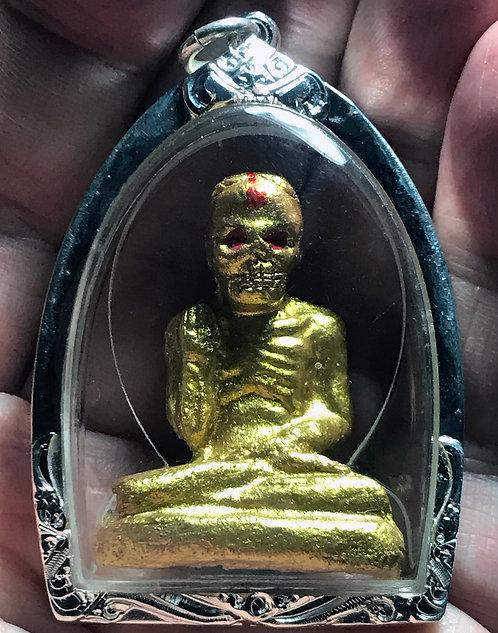 The Ong Kru Phor Hong Prai Amulet by Ajarn Verataep in silver