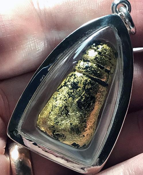 A Low Occult Yaa Surasatee Prai Amulet by Sala Joom in silver